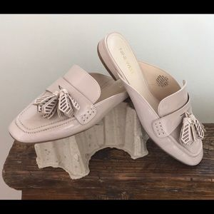 Xstatic Nude Taupe Patent Loafer Tassel Slides